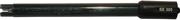 Electrodo de doble junta, rellenado con gel, para ORP con sensor de platino, conector BNC y cable de 1 ó 2 metros