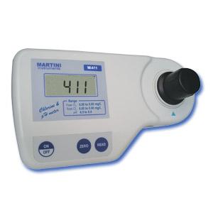 Mi411 Fotómetro Profesional de Cloro (Libre y Total) / pH de Martini Instruments