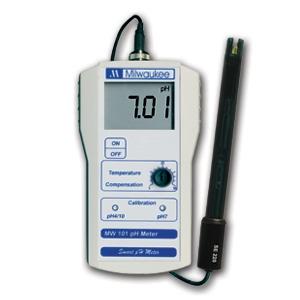 MW101 Medidor Portátil de pH con resolución de 0.01 pH
