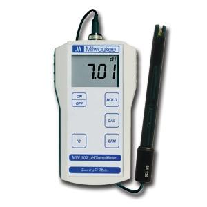 MW102 Medidor Portátil de pH / Temperatura