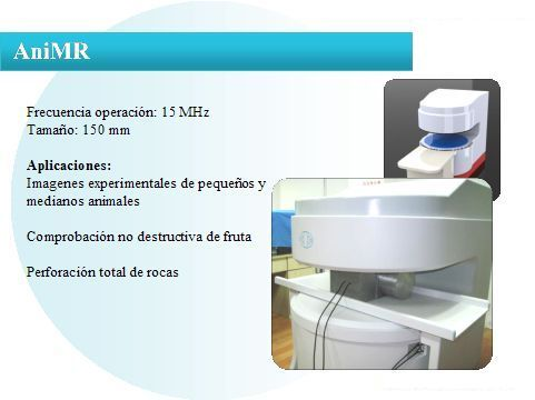 Espectrómetro MRI, modelo AniMR, de Niumag